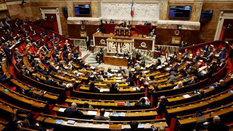 Vue générale de l'Assembleé nationale, à Paris, le 9 février 2021. (LUDOVIC MARIN / AFP)