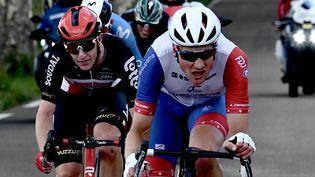 Stefan Küng lors de la 12e étape du Tour de France 2021. (PHILIPPE LOPEZ / AFP)