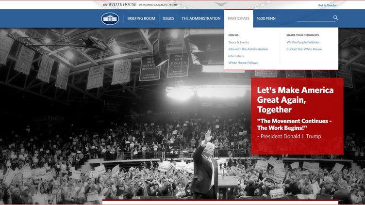 Le site de la Maison Blanche (DR/Capture d'écran)