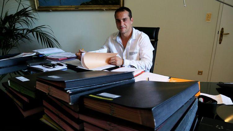 Joris Hébrard, le maire FN du Pontet (Vaucluse), le 9 mai 2014. (MAXPPP)