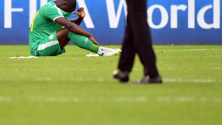 L'attaquant Moussa Konate après l'élimination du Sénégal de la Coupe du monde, le 28 juin 2018. (EMMANUEL DUNAND / AFP)
