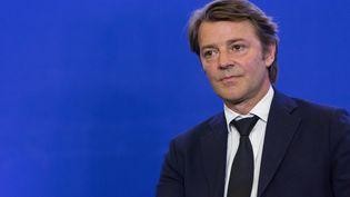 François Baroin lors d'un meeting au siège des Républicains, à Paris, le 10 mai 2017. (ILAN DEUTSCH / CITIZENSIDE / AFP)