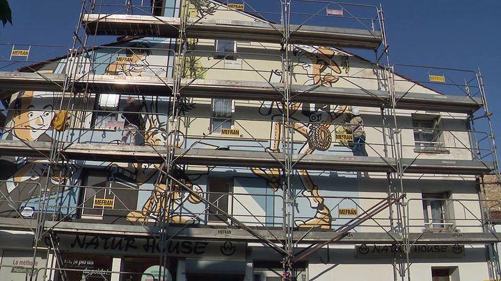 La fresque Goscinnysera inaugurée en novembre 2020 à Angoulême (France 3  Nouvelle Aquitaine)