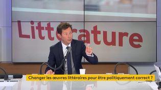 Le député européen Les Républicains François-Xavier Bellamy sur franceinfo le 27 août 2020. (FRANCEINFO / RADIOFRANCE)