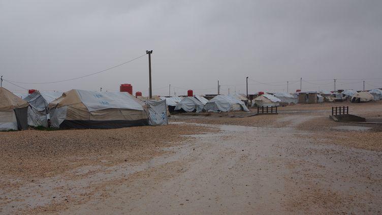 Un camp de réfugiés à Roj, au Nord-Est de la Syrie, en janvier 2018. (ERIC AUDRA / RADIOFRANCE)