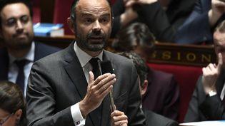Le Premier ministre, Edouard Philippe, s'exprime lors des questions au gouvernement à l'Assemblée nationale, le 16 octobre 2018. (STEPHANE DE SAKUTIN / AFP)