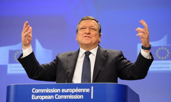 Le président de la Commission européenne, José Manuel Barroso, lors d'une conférence de presse, le 29 octobre 2014 à Bruxelles (Belgique). (DURSUN AYDEMIR / ANADOLU AGENCY / AFP)