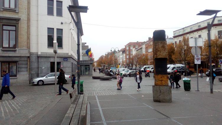 Molenbeek, dans la banlieue de Bruxelles, en Belgique. (LAXMI LOTA / RADIO FRANCE)