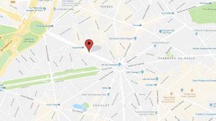 Une banque a été braquée avenue de la Grande Armée, à Paris, le 16 février 2018. (GOOGLE MAPS)