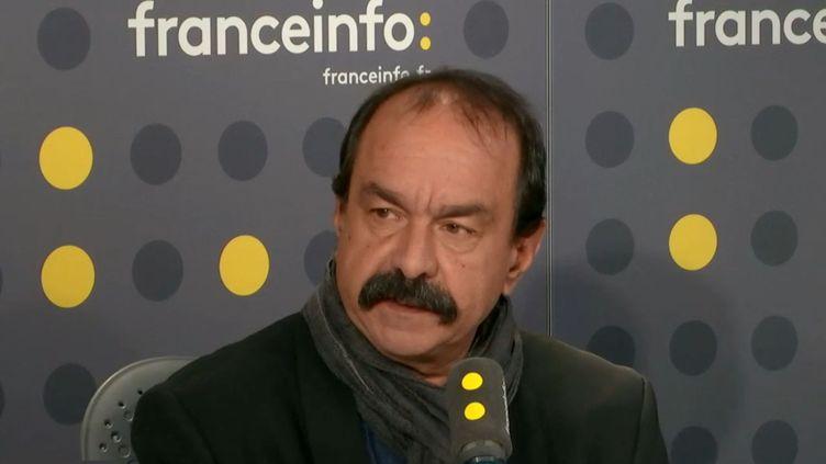 Le secrétaire général de la CGT Philippe Martinez était l'invité de franceinfo lundi 9 décembre 2019. (FRANCEINFO / RADIO FRANCE)