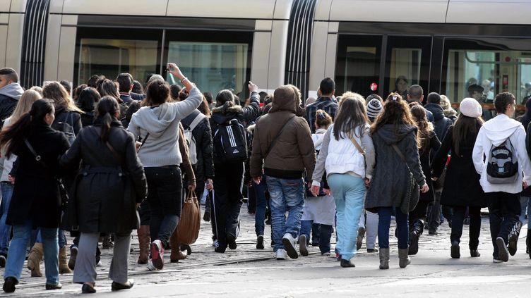 Manifestation de lycéens, à Strasbourg. (illustration) (DOMINIQUE GUTEKUNST / MAXPPP)