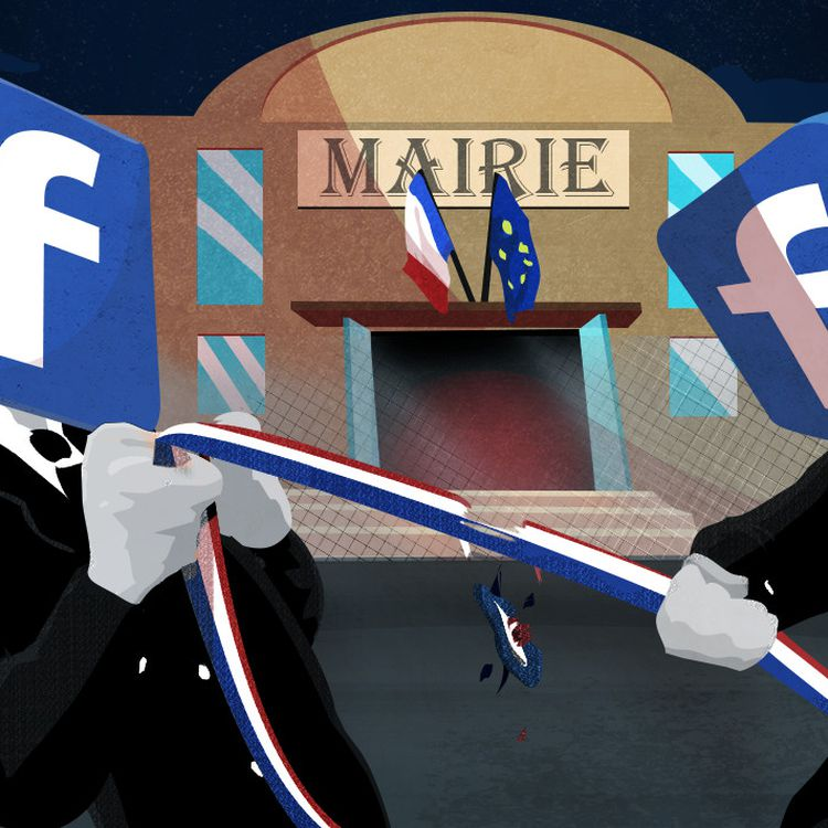 La campagne des municipales déraille sur Facebook. (PIERRE-ALBERT JOSSERAND / FRANCEINFO)