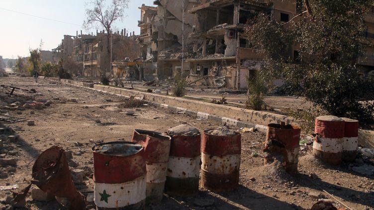 La ville de Deir ez-Zor dévastée, le 7 février 2014. (AHMAD ABOUD / AHMAD ABOUD)