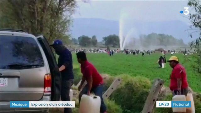 Mexique : explosion d'un oléoduc