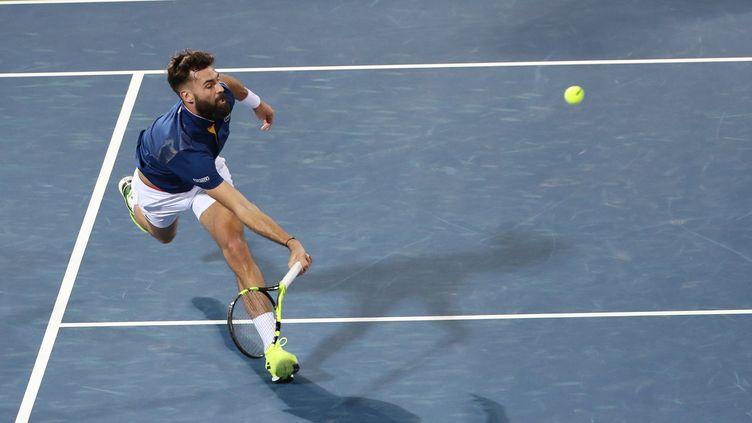 Benoît Paire lors de l'ATP 500 de Dubaï (KARIM SAHIB / AFP)