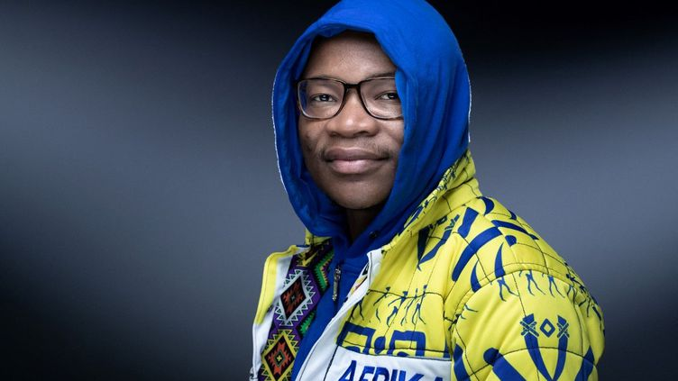 Le musicien et producteur sud-africain Kgaogelo Moagi, dit Master KG, à Paris, le 1er juillet 2021. (JOEL SAGET / AFP)