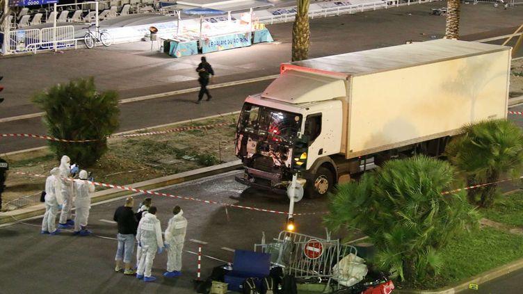 (C'est au volant de ce camion que le tueur a foncé sur la foule le 14 juillet © Sasha Goldsmith/AP/SIPA)