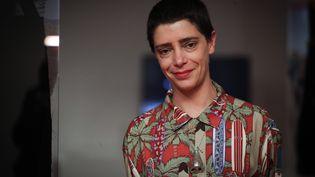 Lili Reynaud Dewar le 30 mai 2018 à Séoul où elle présentait une de ses œuvres (???? / YONHAP NEWS AGENCY / MAXPPP)