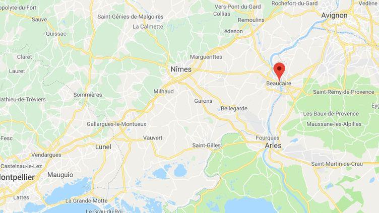 Les deux enfants ont été retrouvés dans la garrigue,à quelques centaines de mètres des habitations, à Beaucaire (Gard). (GOOGLE MAPS)