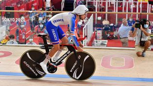 Le Français Dorian Foulon sur la piste des Jeux paralympiques de Tokyo, le 26 août 2021. (L.PERCIVAL - CPSF)