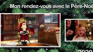 Insolite : dans le Nord, un Père Noël échange avec les enfants en visio (France 3)