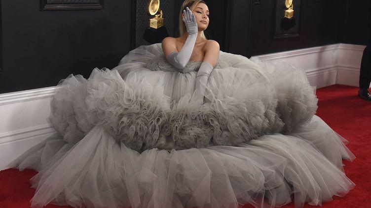 Ariana Grande lors de la 62ème cérémonie des Grammy Awards à Los Angeles, le 26 janvier 2020. (JORDAN STRAUSS/AP/SIPA / SIPA)