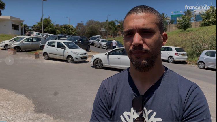 Le journaliste Khaled Drareni, journaliste à Radio M et correspondant de RSF en Algérie, le 11 juin 2021. (FRANCEINFO / RADIOFRANCE)