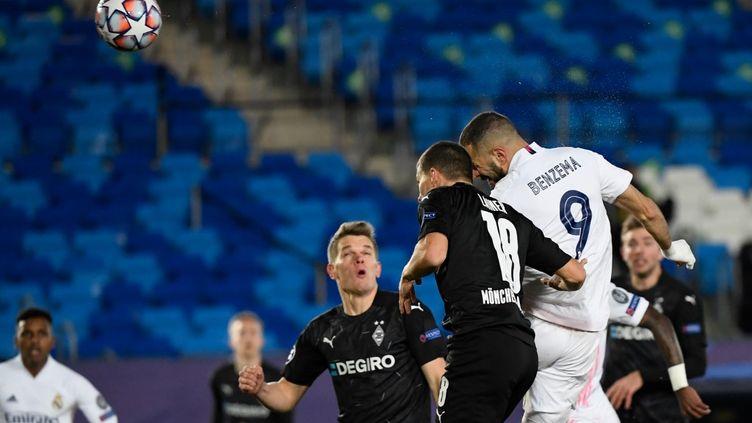 Benzema a ouvert le score en début de match. (PIERRE-PHILIPPE MARCOU / AFP)