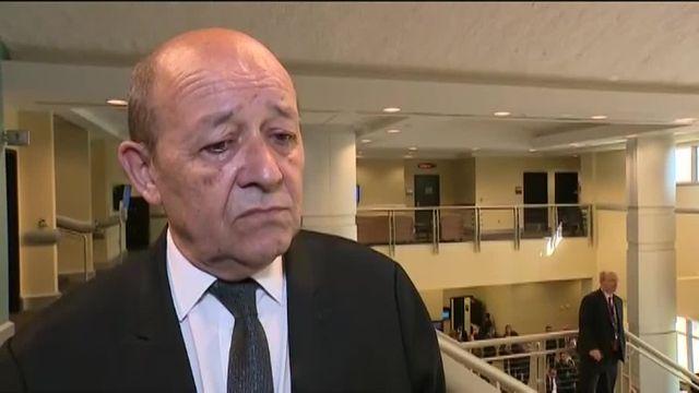 Jean-Yves Le Drian sur les bombardements à Manbij