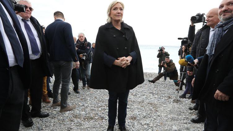 Marine Le Pen, présidente du Front national, candidate à l'élection présidentielle, ci-contre à Nice, le 13 février 2017. (AFP)