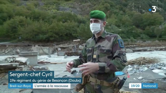 Tempête Alex : l'armée en renfort à Breil-sur-Roya