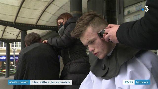 Caen : trois coiffeuses coupent gracieusement les cheveux des sans-abri
