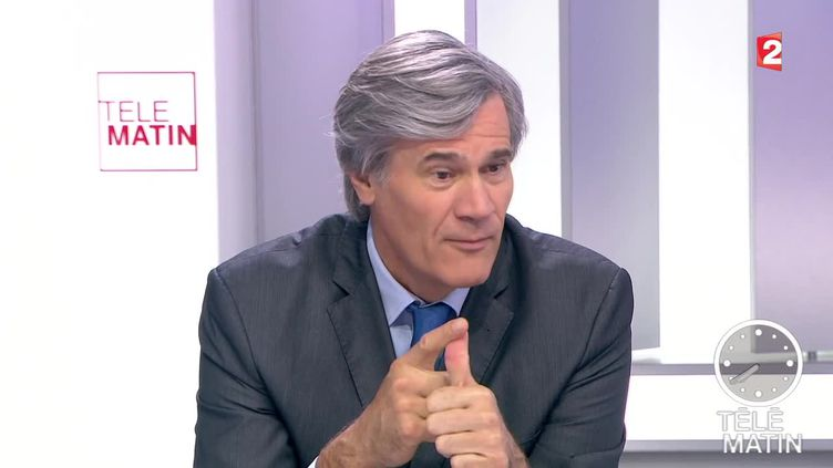 Stéphane Le Foll, ministre de l'Agriculture, le 4 novembre 2015 sur le plateau de France 2. ( FRANCE 2)