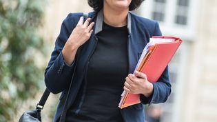 La ministre du Travail, Myriam El Khomri, le 18 février 2016 à Matignon. (YANN KORBI / CITIZENSIDE.COM / AFP)