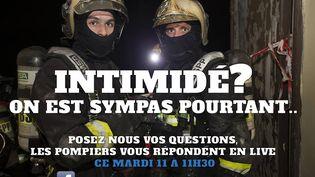 Campagne de recrutement organisée via Facebook pour les Pompiers de Paris. (POMPIERS DE PARIS RECRUTEMENT / FACEBOOK)