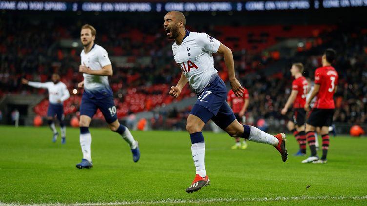 Lucas a inscrit son cinquième but de la saison face à Southampton (IAN KINGTON / AFP)