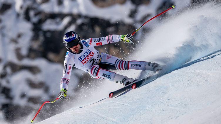 Maxence Muzaton s'est fait une grosse frayeur lors de la descente des Mondiaux de ski alpin à Cortina d'Ampezzo (Michael Kappeler/dpa/picture-alliance/Newscom/MaxPPP) (MICHAEL KAPPELER / DPA)