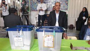 Bureau de vote situé dans l'Est de Téhéran (Iran), le 19 mai 2017. (ELISE DELEVE / RADIO FRANCE)