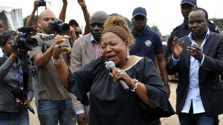 Patience Dabany, «La mère du Gabon», s'est lancée dans la chanson. (SIA KAMBOU / AFP)