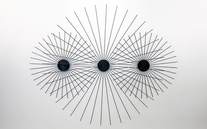 """""""Bandeau-Hypnose"""" deJoel-Stein, pour l'exposition """"Hypnose - Art et hypnotisme de Mesmer à nos jours"""" au Musée d'art de Nantes du16 octobre 2020 au 14 mars 2021. (Joel-Stein / Musée d'arts de Nantes)"""