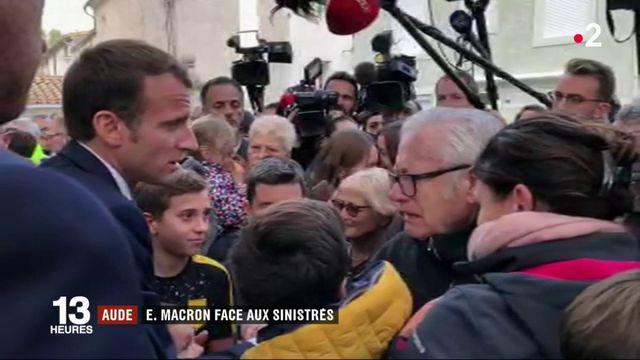 Aude : Emmanuel Macron auprès des sinistrés