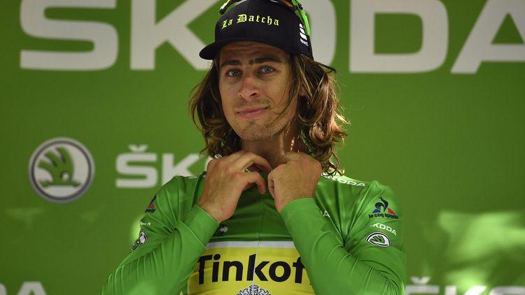 Peter Sagan, un champion du monde qui devient champion d'Europe ! (LIONEL BONAVENTURE / AFP)