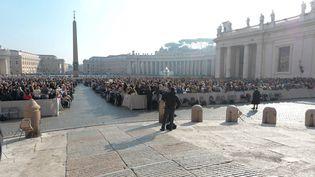 La place Saint-Pierre à Rome (Italie) photographiée lors d'un discours du pape le 11 novembre 2015. (MAXPPP)