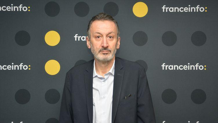Sylvain Bourmeau fondateur d'AOC. (JEAN-CHRISTOPHE BOURDILLAT / RADIO FRANCE)