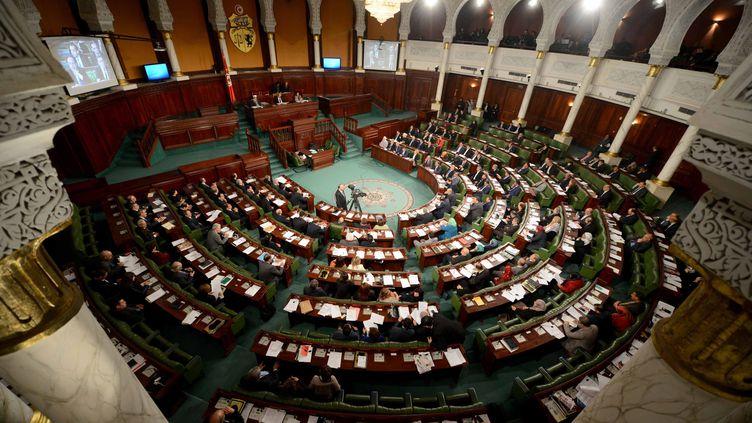 Le Parlement tunisien en février 2015. (ALI GARBOUSSI/WOSTOK PRESS / MAXPPP)