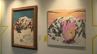 Les éditions Glénat présentent une exposition qui met à l'honneur montagne et BD (G. Ragris / France Télévisions)