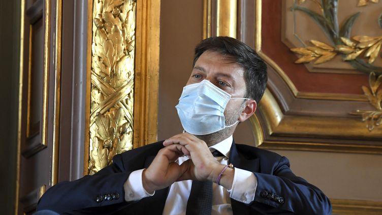 Benoît Payan, le maire de Marseille. (NICOLAS TUCAT / AFP)