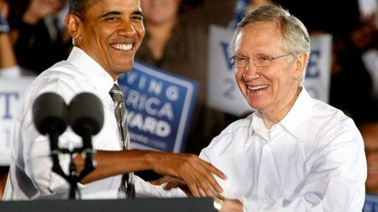 Harry Reid, le patron des sénateurs démocrates, soutenu par le président Obama, est en difficulté dans le Nevada. (AFP - Getty - Ethan Miller)