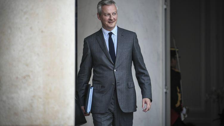Le ministre de l'Economie Bruno Le Maire à l'Elysée, à Paris, le 31 août 2018. (STEPHANE DE SAKUTIN / AFP)