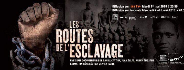 L'affiche de la série «Les routes de l'esclavage» (DR)
